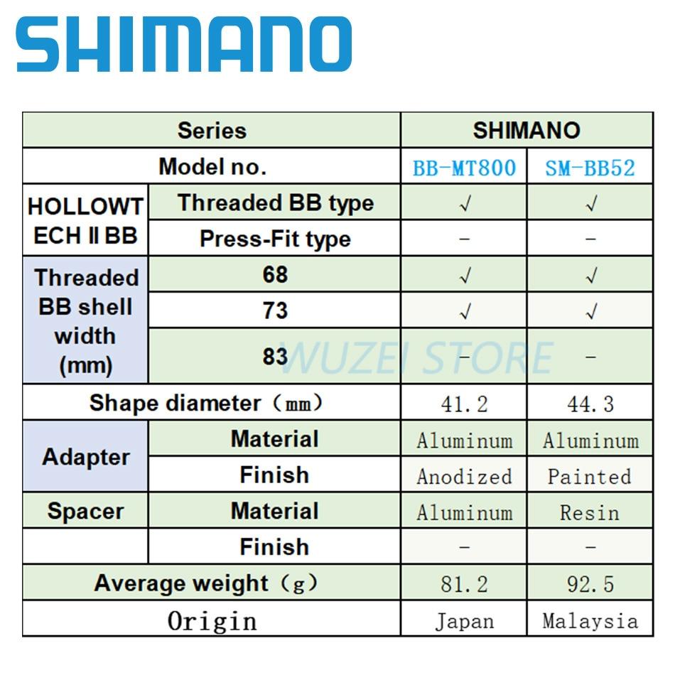 2acaaae24b3 Shimano Deore SM-BB52 Hollowtech II Mountain Bike Bottom Bracket 68 ...
