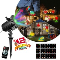 DIY RC Christmas Laser Projector Projection Xmas Lights Laser Lamps Christmas Decor Home Light Festival Party Photobooth Props H