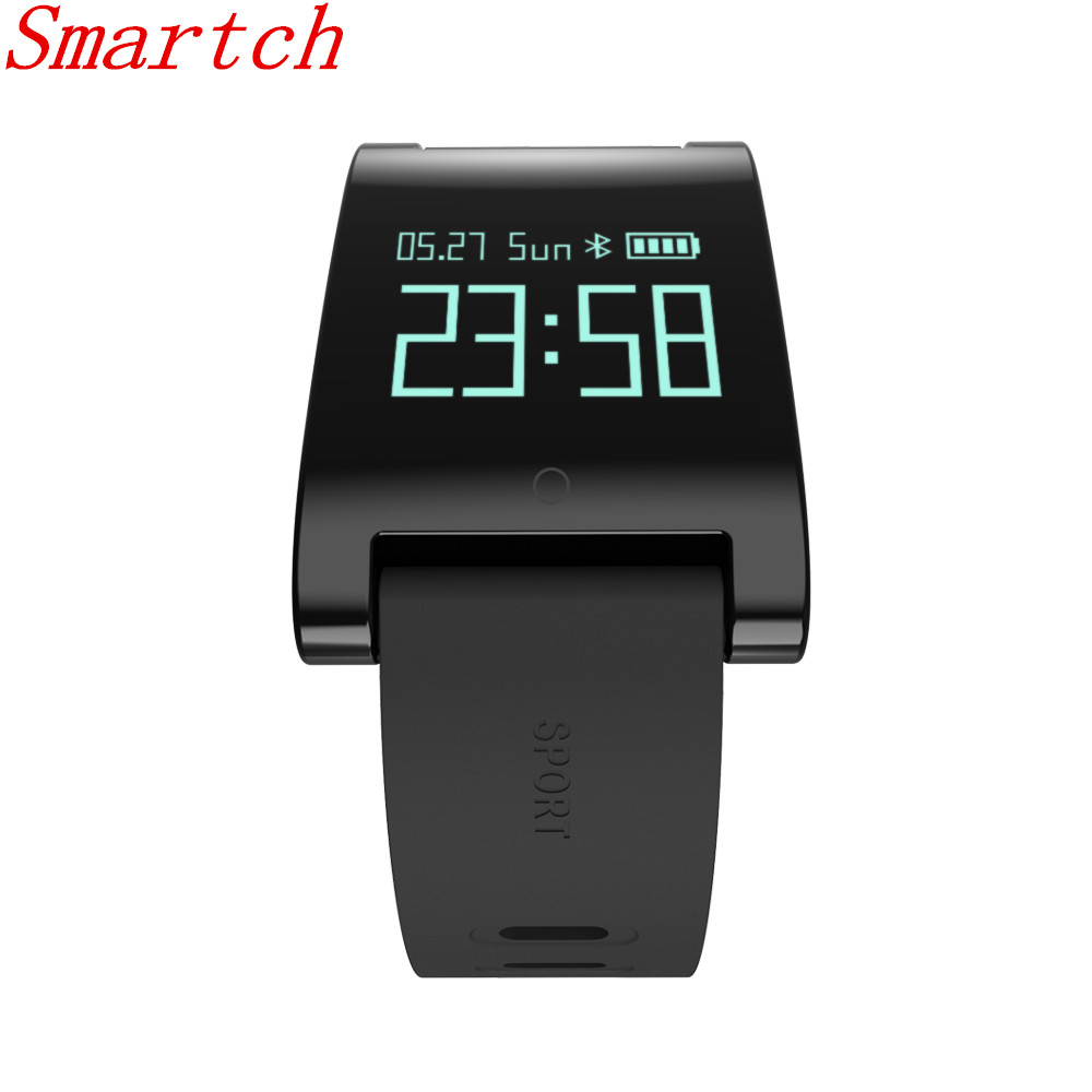 Smartch DM68 Smart Band Fitness Activity Tracker Cicret Bracelet Blood Pressure Oxygen Heart Rate Tracker for