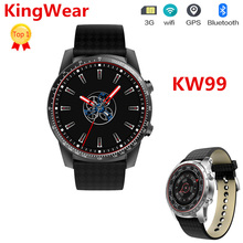 2018 3G GPS Relógio Inteligente KW99 1.39 polegada Android 5.1 MTK6580 1.3 GHz 512 MB + 8 GB BT 4.0 Dispositivos Wearable Smartwatch Atualizar A Partir De KW88