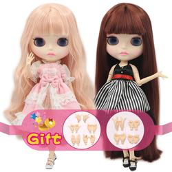 ICYDBSBlythDoll 1/6 Joint Body New matte face white skin 30cm DIY BJD toys Fashion gift Special Offer with hand group AB
