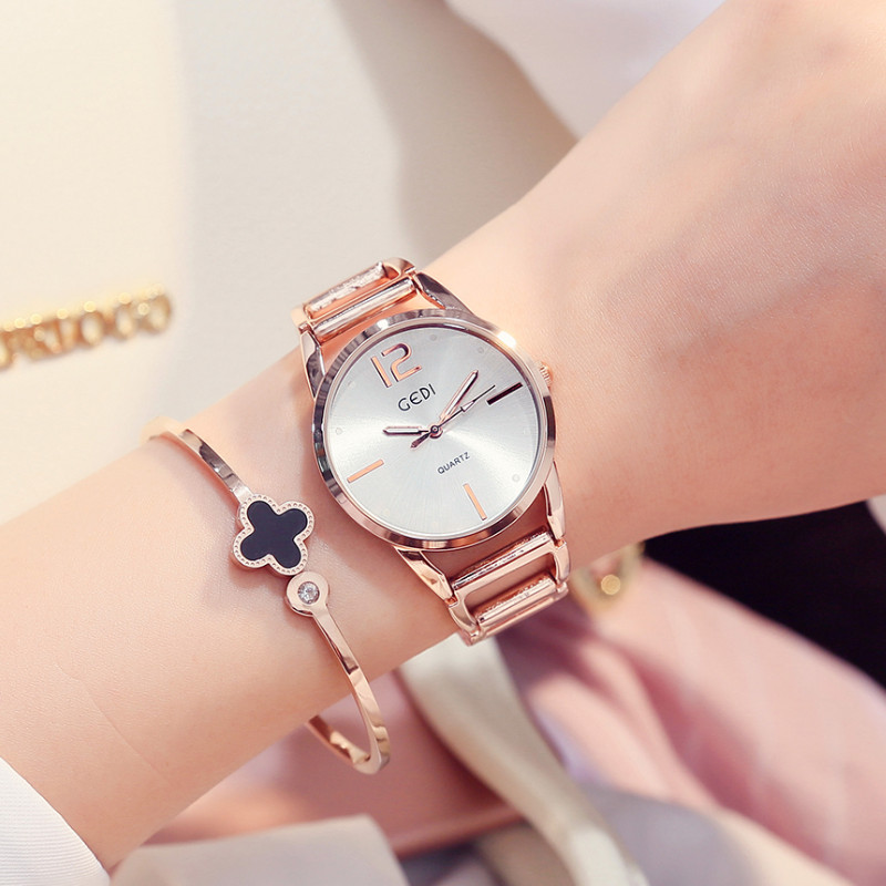 GEDI Luxury Brand Women Watch Fashion Rose Gold Watches Women Fashion Casual Quartz Ladies Wristwatch Reloj Mujer Clock Female 2017 luxury brand watch fashion rose gold girl watches women fashion casual quartz ladies wristwatch reloj mujer clock relojes