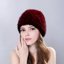 2017 High-quality New 100% Genuine Rabbit Fur Hat women hats Winter Lady Cap Female Headgear Women