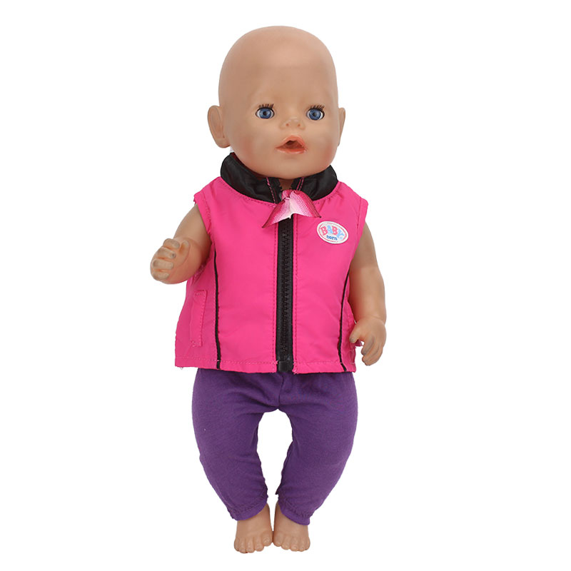 Meired Coat+Pants Doll clothes Wear fit 43cm Baby Born zapf, Children best Birthday Gift(only sell clothes)