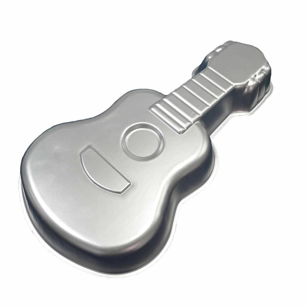 Molde de guitarra Imperial corona para pastel molde de aleación de aluminio bandeja para hornear pastel Fondant de Chocolate DIY molde para hornear reutilizable decoración de la torta