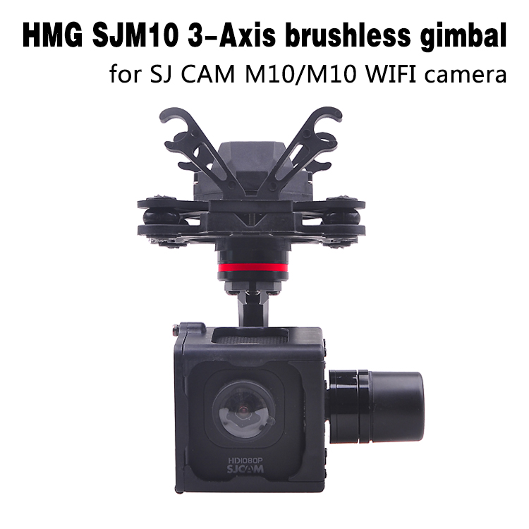 HMG SJM10 3-Axle Brushless Gimbal with AV Output for SJCAM M10 SJM10 WIFI Camera DIY FPV RC Quadcopter Drone F18264 with two batteries yuneec q500 4k camera with st10 10ch 5 8g transmitter fpv quadcopter drone handheld gimbal case