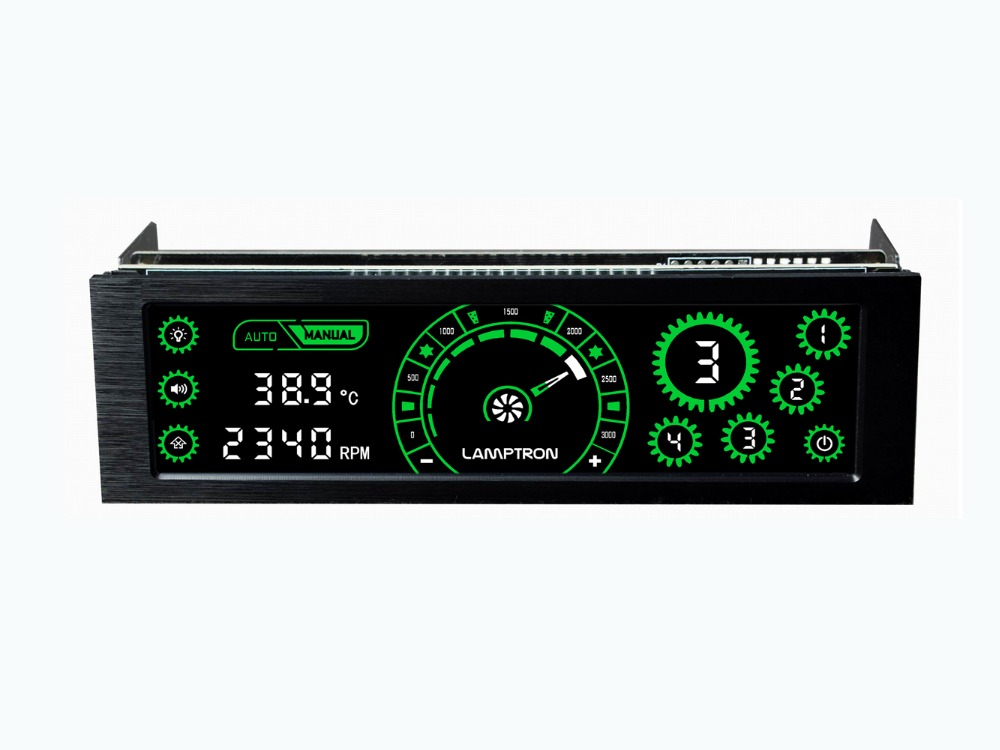 цена Lamptron CM430 Driver Place Fan Speed Controller LCD Screen 4 Channels Water cooling fan speed regulator