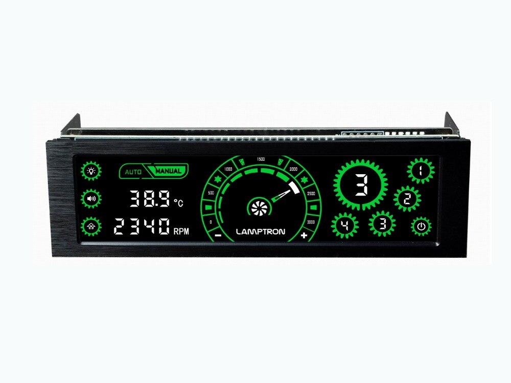 Lamptron CM430 Driver Place Fan Speed Controller LCD Screen 4 Channels Water cooling fan speed regulator