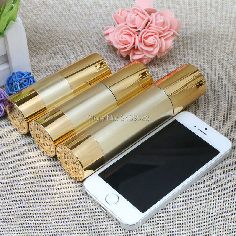 Makeup Tools Gold Wire-drawing Refillable Bottles 15ml 30ml 50ml Lotion Cosmetic Container Empty Shampoo Airless Bottle 2pcs/lot