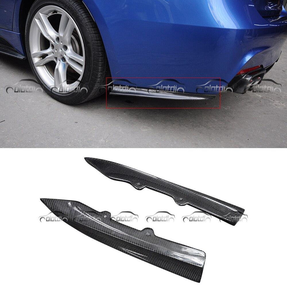 Pour BMW F30 m-tech PSM Style épissures latérales arrière en Fiber de carbone pare-chocs aileron aillets