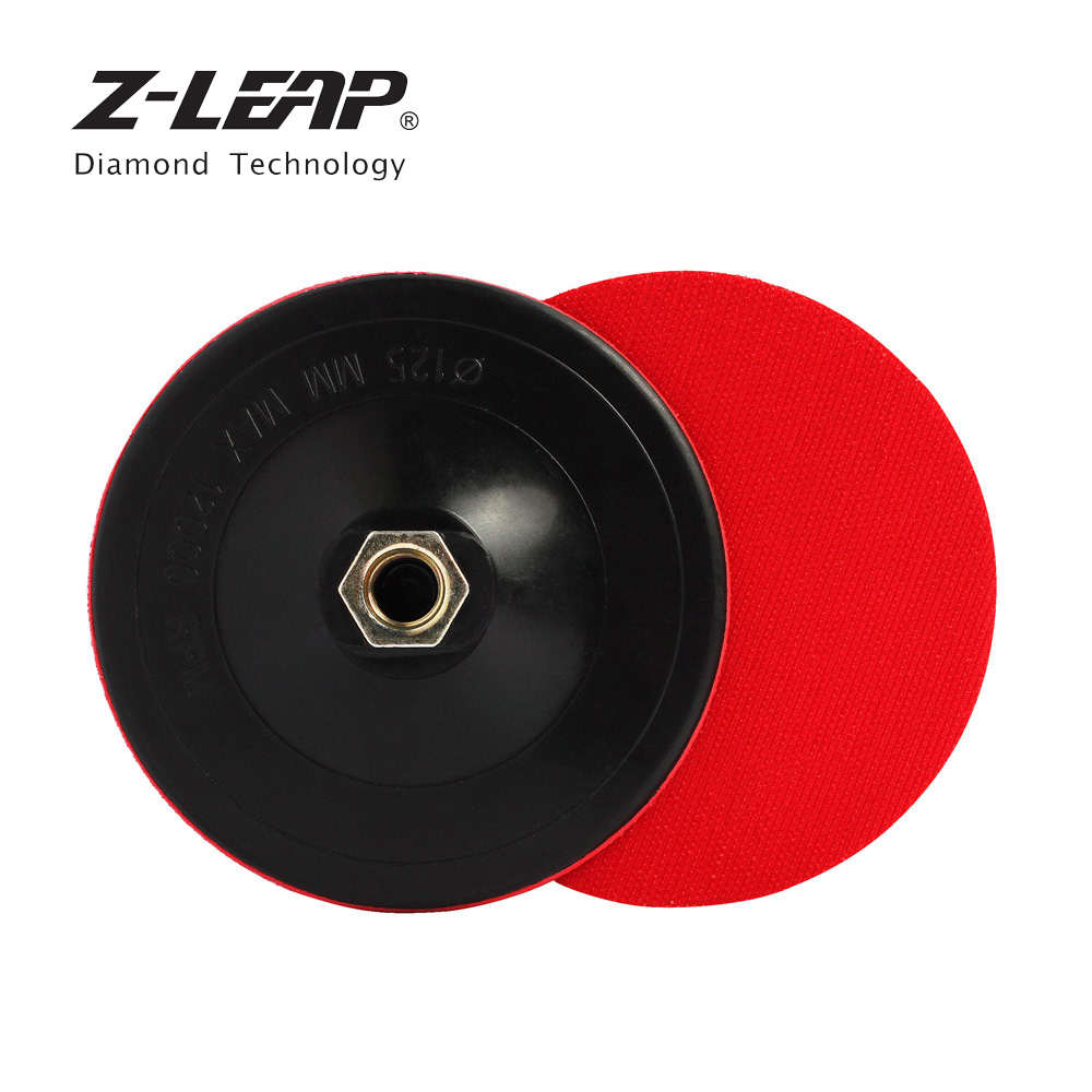 Z-LEAP 2pcs 4/5 Inch Polishing Pad Backing Plate Plastic Material Velcro Buffing Holder Stone Wood Metal Backer Disc M14 Thread