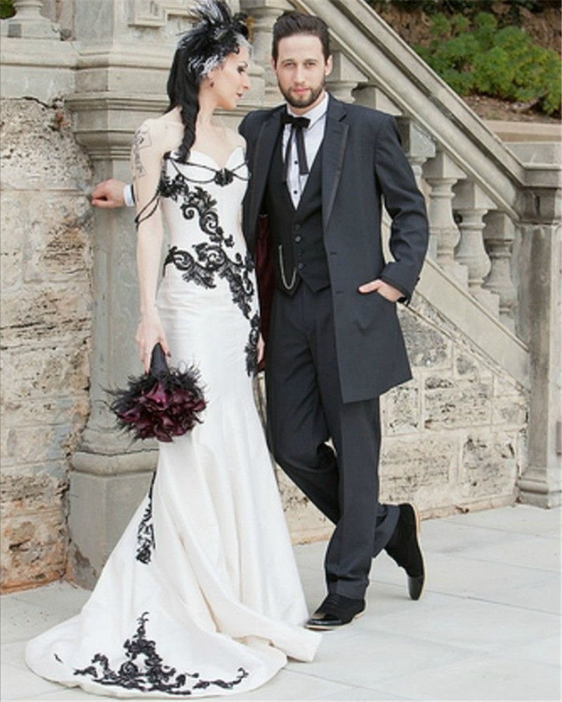 Online Buy Wholesale white gothic wedding dresses from China white ...