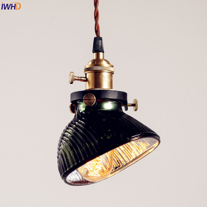 IWHD Glass Vintage Industrial Pendant Lighting Bar Restaurent LED Edison Bulb Light Fixtures Retro Loft Lamp Hanglamp iwhd retro vintage lamp industrial pendant lighting fixtures bar coffee 3 heads style loft hanging lights hanglamp edison