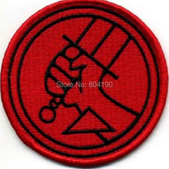 """Ev ve Bahçe'ten Yamalar'de 3 """"Hellboy Kırmızı Logo TV FILM FILM Serisi Üniforma Kostüm İşlemeli Demir On Patch Goth Punk'da  Grup 1"""