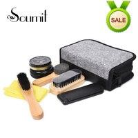 7 Piece Luxurious Gentlemen S Leather Shoe Polish Set Professional Exquisite Travel Polishing Care Kit For