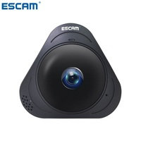 ESCAM Q8 HD 960P 1.3MP 360 Degree Panoramic Monitor Fisheye WIFI IR Infrared Camera VR Camera With Two Way Audio/Motion Detector