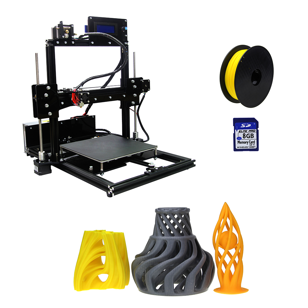 AL 1 3D Printer I3 Aluminium Extrusion 3D Printer Kit Send Printing Supplies SD Card AS - 3D-принтер купил - самый простой