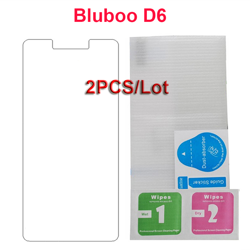 2PCS Front Glass For Blu D6 Glass Bluboo D6 Tempered Glass Ultra-thin Glass Phone Film On For BLuboo Blu D 6 Screen Protector image