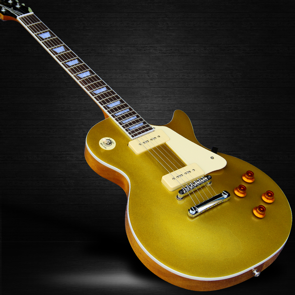 The new style of high-quality 1959 R9 LP electric guitar, P90s pickups metal yellow electric guitar, free shipping forestwind new arrival hot selling junior standard style pickups electric guitar 2 pic free shipping