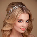 100% Handmade Hairband Princess Crystal Czech Rhinestone Bridal Headband Headpiece Wedding Hair Accessories Jewelry Z0927-1