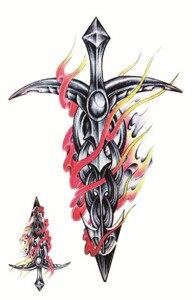 Пламя меч Клинок классная Красота Сексуальная Татуировка непромокаемая временная татуировка наклейки