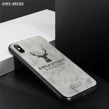 Deer Cloth Texture Phone Case For Samsung Galaxy A50 A30 M20 S8 S9 S10 Plus J4 J6 A6 J3 j5 j7 2017 Hard Back Cover Coque Fundas(China)