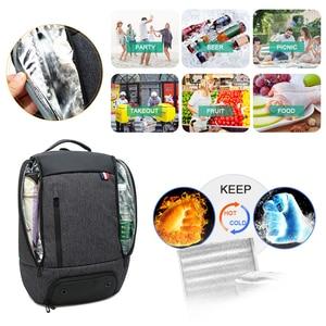 Image 2 - Reise Laptop Rucksack Smart Tasche 15,6 Notebook Rucksäcke Männer Frauen Halten Kühlen Große Taschen Außen Waterpoof Schwarz Bagpack Business