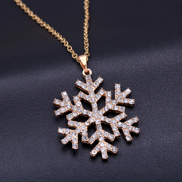 Cheap fashion jewelry CZ Crystal charm necklaces snowflake necklace for christmas flower pendants necklace bijoux colliers 2015 3