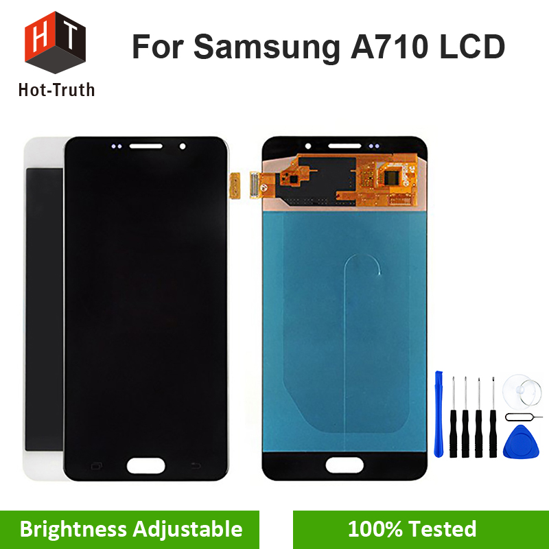 Hot-Truth Original Quality LCD For Samsung Galaxy A7 2016 A710 A710F A710M Display Touch Screen Digitizer Assembly Super Amoled Hot-Truth Original Quality LCD For Samsung Galaxy A7 2016 A710 A710F A710M Display Touch Screen Digitizer Assembly Super Amoled