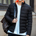2016 Hot Selling Men Winter Fashion Jacket Male Stand Collar Solid Thick Coat Slim Fit Warm Clothing 5 Colors Plus Size M-4XL