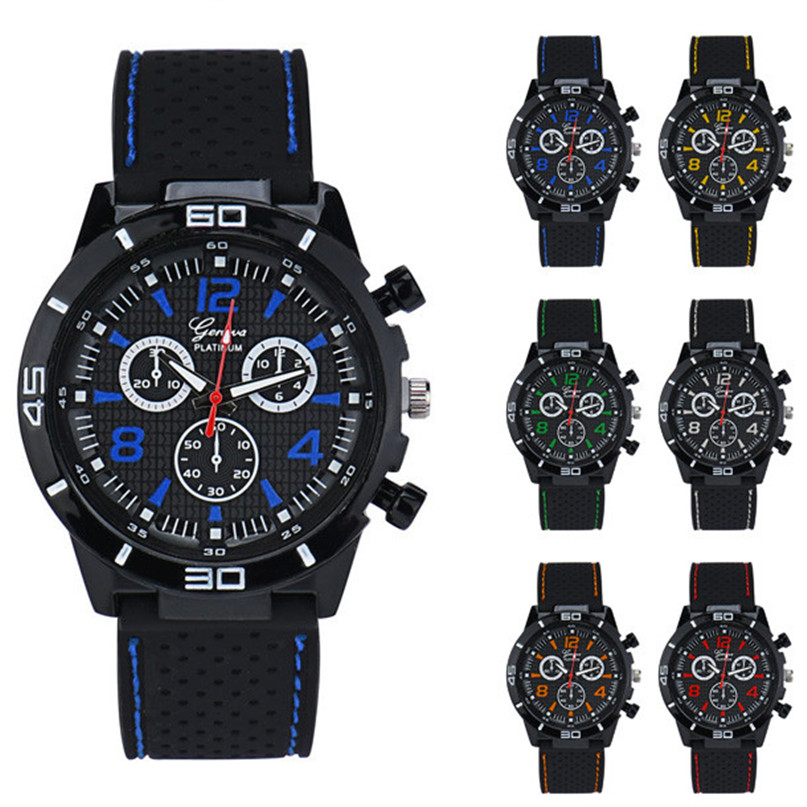 Men Military Watches Sport Wristwatch Silicone Fashion Hours Quartz Watch Handsome High Qulity Hot Selling Free Shipping M1