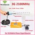 Display LCD 3G WCDMA 2100 mhz Sinal De Reforço Repetidor 2100 MHz GSM Signal Booster Amplificador de Sinal de Telefone Celular Com 3G Antena