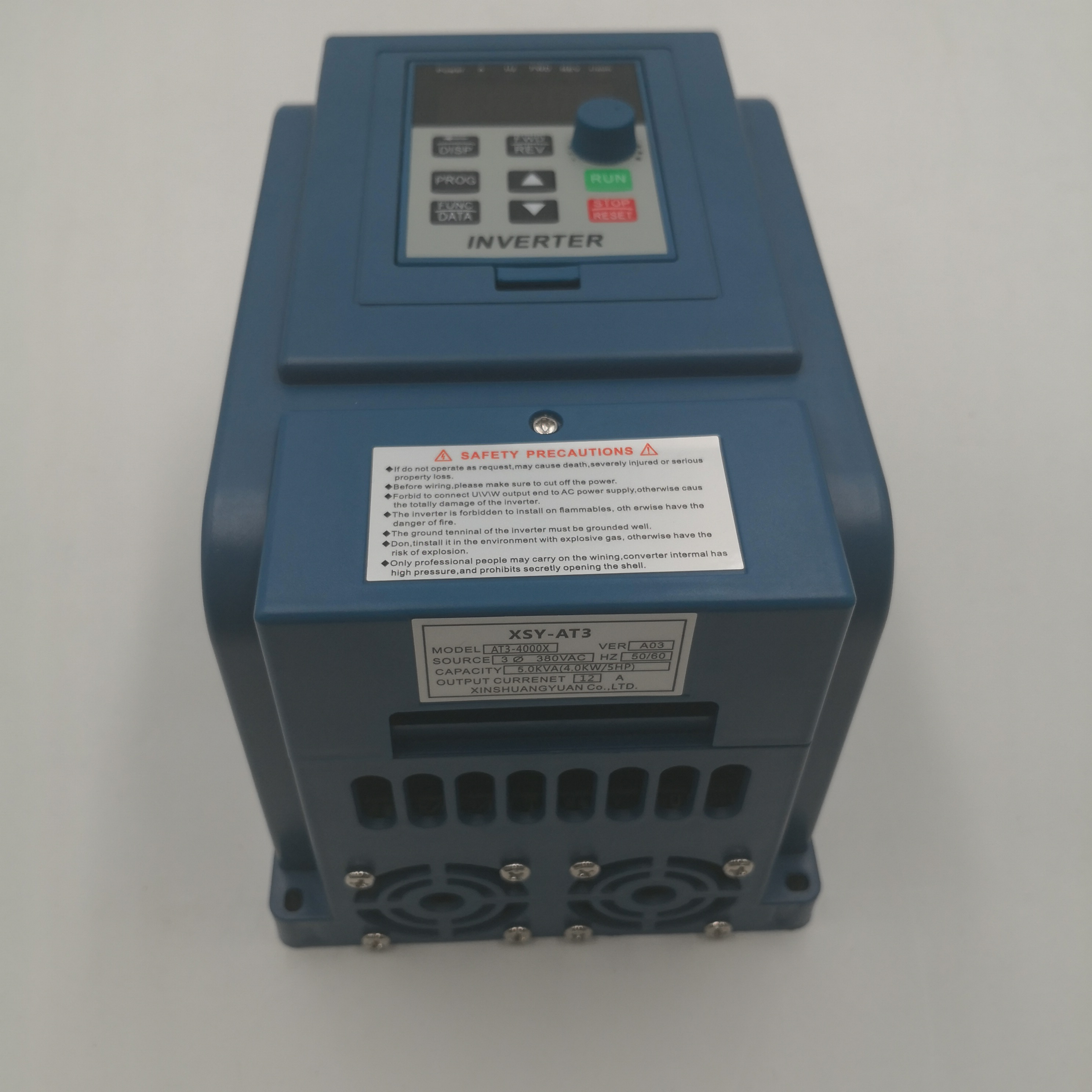 VFD AC 380V <font><b>4KW</b></font> Variable Frequency Drive 3 Phase Speed Controller Inverter <font><b>Motor</b></font> VFD Inverter Frequency Converter image