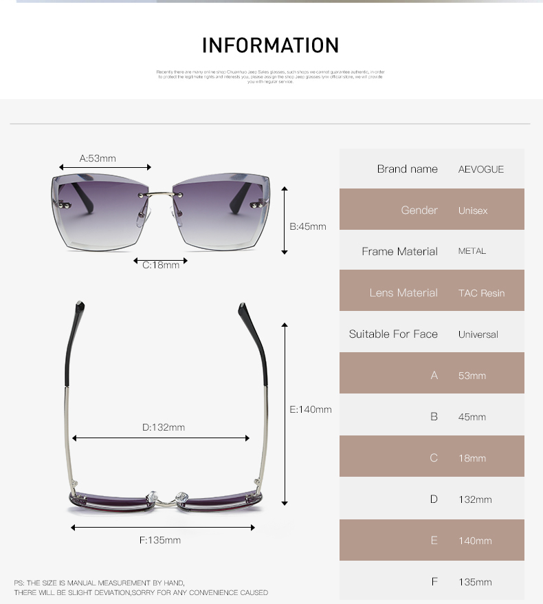 abb36b6713c Square Rimless Sunglasses – Sellimart