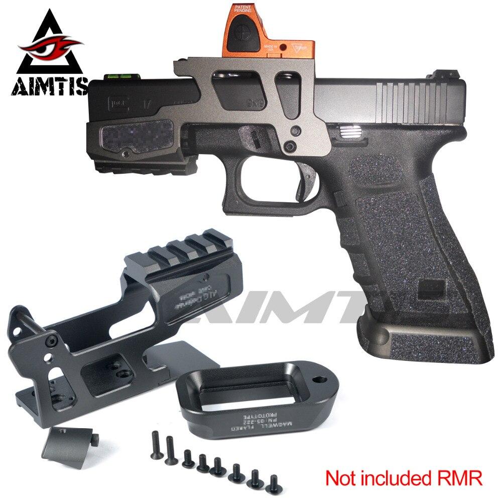 AIMTIS AIG defensa 6-segunda montura óptica alcance montaje RMR para pistola Gen3 Glock 17 18C 22 24 31 34 35 pistolas con Magwell