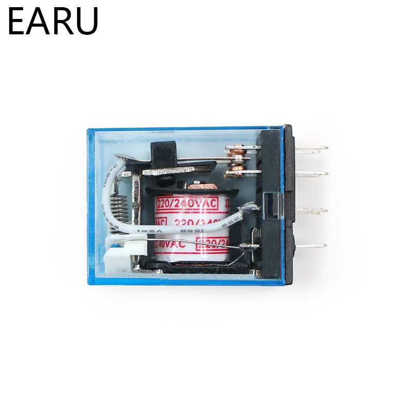 HTB16HNif0knBKNjSZKPq6x6OFXan - MY2P HH52P MY2NJ Relay Coil General DPDT Micro Mini Electromagnetic Relay Switch with Socket Base LED AC 110V 220V DC 12V 24V
