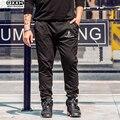 Повседневная Плюс Размер Мужчины Брюки Высокое Качество Свободные Брюки Карандаш Черный Весна Осень Хлопок Мужские Брюки Упругие Талии Штаны 6xl
