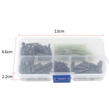 120pcs/box Assorted Carp Fishing Accessories Tackle Boxes Kit With Swivels/Anti Tangle Sleeves Carp Fishing Lead Clips Tackle
