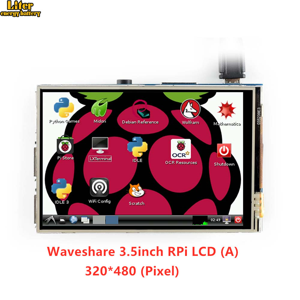 3.5inch RPi LCD (A) 320*480 TFT Resistive Touch Screen Panel SPI Interface For All Raspberry Pi