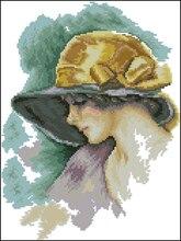 바느질, 우아한 패션 여자 사람들 14CT 카운트 자 수, DIY 크로스 스티치 키트, 아트 패턴 크로스 스티치 홈 장식