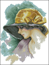 Costura, elegante moda mujer personas 14CT bordado con cuentas, kits de punto de cruz DIY, diseño de arte punto de cruz decoración del hogar