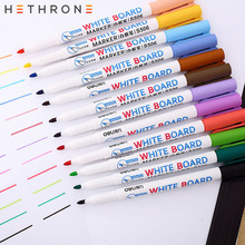 Hethrone Waterproof Whiteboard sets Erasable sharpie Markers Pen 8/12pcs colorful Kids White Board Graffiti Painting drawing pen high quality erasable whiteboard pen poster display board pen 12pcs box