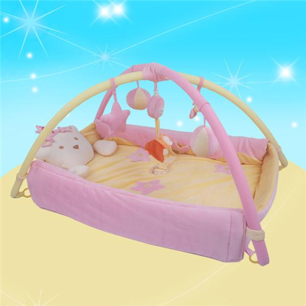 Princesa! 90 cm * 96 cm! Bebê tapete de e dobrar atividade ginásio jogue ginásio Playmats colorido Gymini Playmat com 4 brinquedos