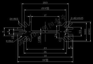 Image 2 - Ücretsiz gemi 100 adet alüminyum soğutucu to220 soğutucu 30*34*12MM transistörlü soğutucu radyatör siyah soğutma