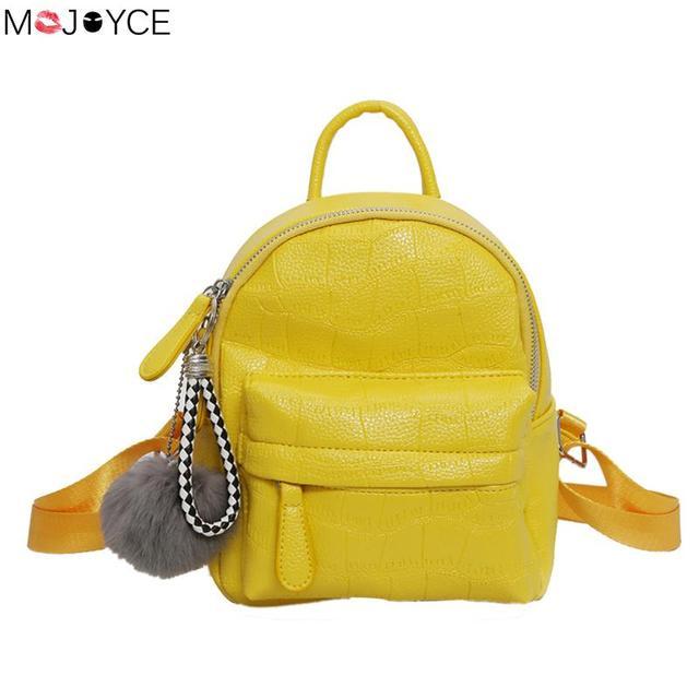 4e5e02db9cfa Fashion Female Rucksack Bag High Quality Bright PU Leather Women Bag  Backpacks Stone Pattern Girl