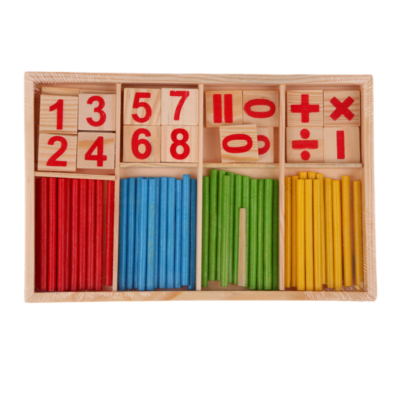 Baby Math Toy Wooden Counting Sticks Educational Toys Gift Kids Early Learning Number Counting Math Stick Calculate Toys colorful number match game board kid figures counting math learning toy fun block board game wooden educational toy for children