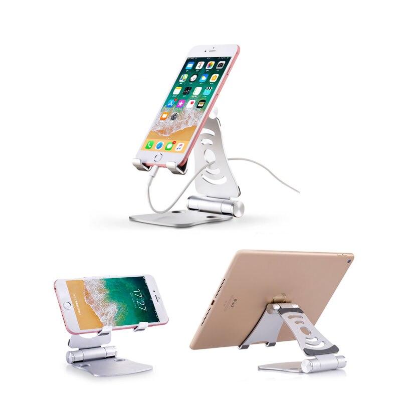 Tablet telephone desk stand holder Adjustable For iPad iPhone For Smartphone holder Metal Tablets font b
