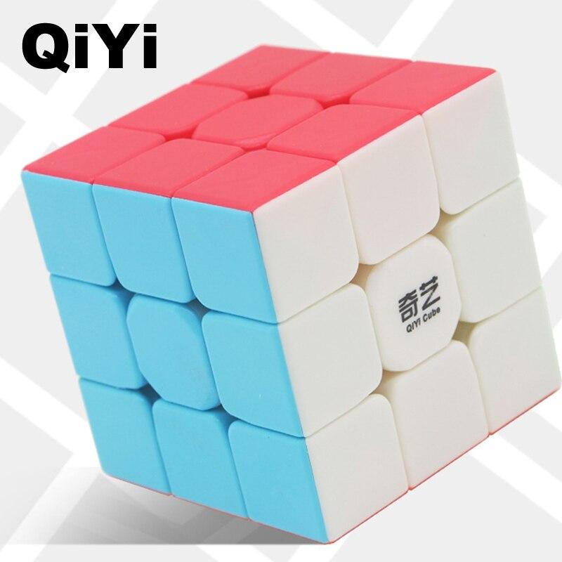 QIYI guerrier W Cube de vitesse 3x3x3 Cube magique 5.6CM professionnel Puzzle rotatif lisse Cubos Magicos jouets pour enfants cadeaux MF3