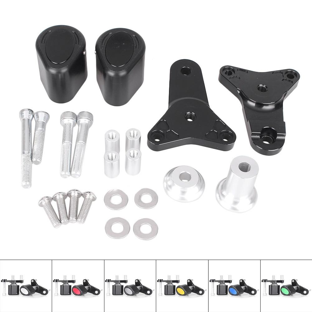 CNC Motorcycle Frame Slider Crash Pad Protector Guard For Suzuki GSXR 600 750 2011 2012 2013 K11, Aluminum Alloy + ABS Plastic