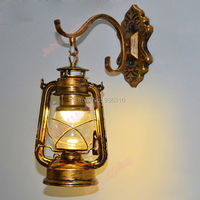 antique Copper Vintage Lantern Wall Lamp Personalized Kerosene Lamp Fashion Iron Wall Lights Cafe aisle lights